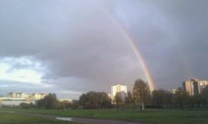 Очень красивая радуга